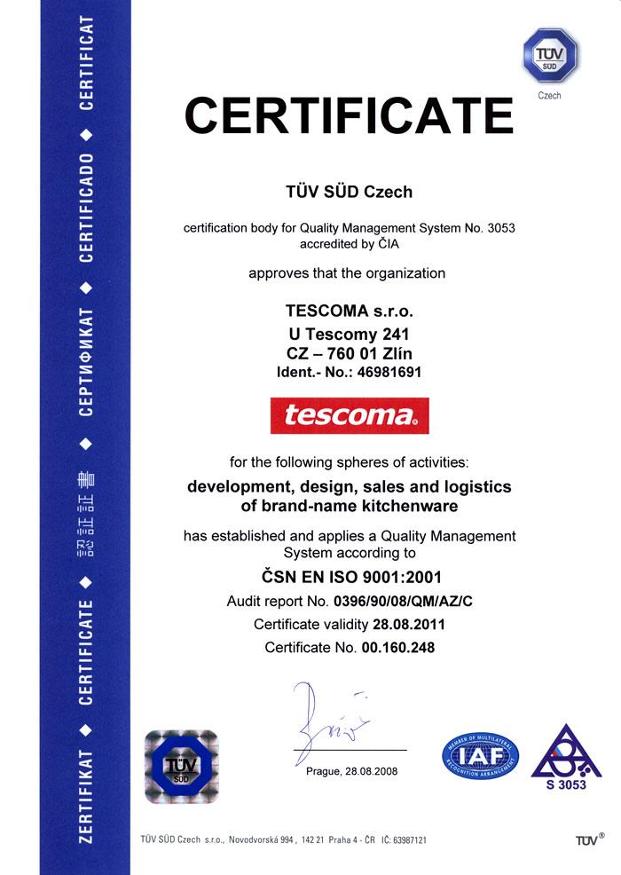 Сертификация посуды Тескома